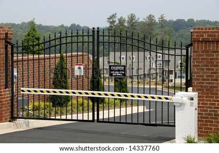 New Gated Community with focus on the Security Gate
