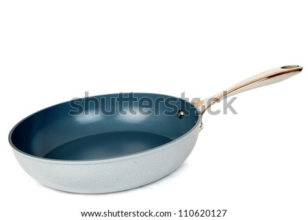 New gray kitchen pan isolated on the white background
