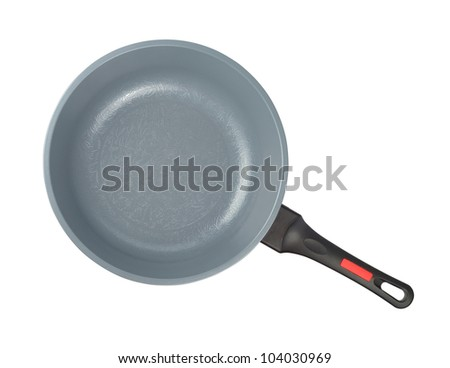 New gray kitchen pan isolated with clipping path on the white background