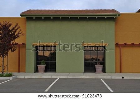 New Green and Yellow Shopping Center Store Front