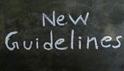 New Guidelines Phrase Written On Blackboard With White Chalk