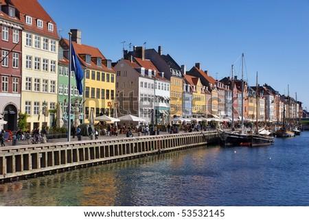 New harbor in Copenhagen. Denmark