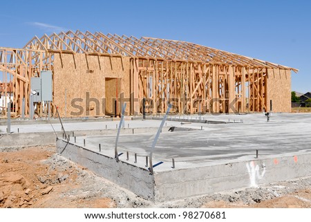 New Home Foundation - stock photo