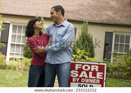 New Home Owners Hug