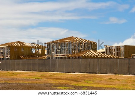 New Homes being built in a residential development