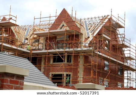 New homes being built in Lancashire England - stock photo