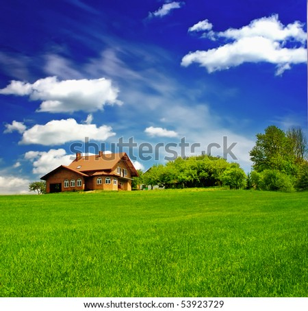 New house - stock photo