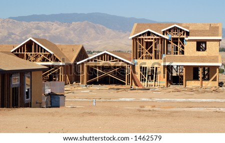 New house construction.