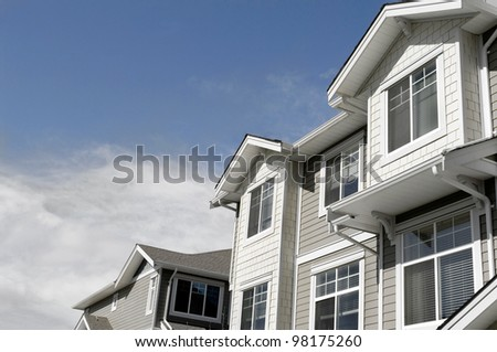 new house for sale. modern townhouse condo home for real estate property investment.