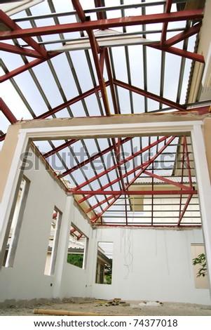 New house interior underconstruction