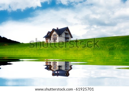 New house near the lake