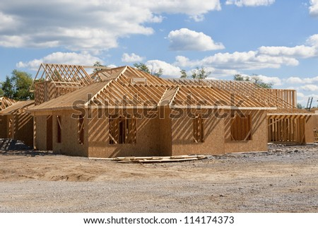 New house under construction - build your dream home.