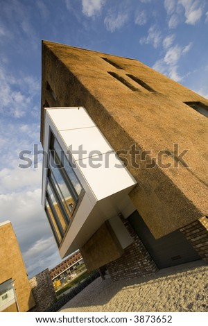 New Houses Under Construction Modern Architecture With