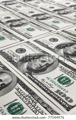 New Hundred Dollar Bills for background