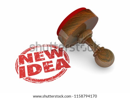 New Idea Innovation Inventive Modern Word Stamp 3d Illustration