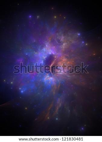 new illustration einer neuen galaxy mit nebel und Emissionsnebe