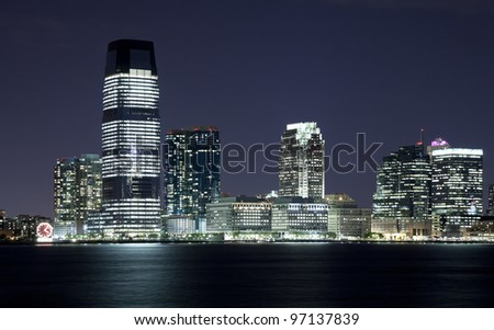 New Jersey and river Hudson in the night