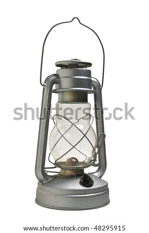 new kerosene lamp isolated on white background