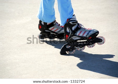 New kids rollerblades. No logos are visible.