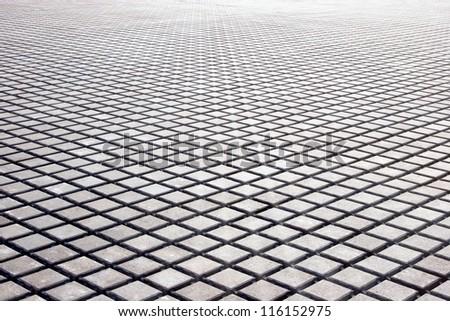 New large concrete block pavement