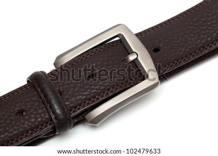 new leather belt isolated on white