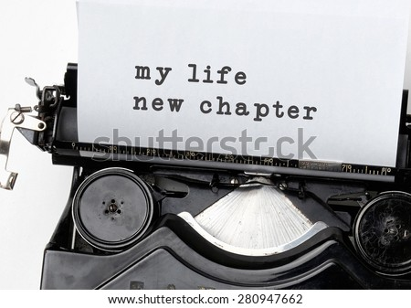 New life chapter concept for fresh start, new year resolution, dieting and healthy lifestyle.