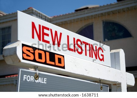 New listing sold sign