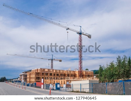 New low rise building construction.