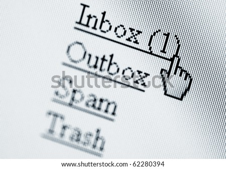 New message, computer screen - stock photo