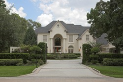 New million dollar homes in affluent neighborhood, sales are steady