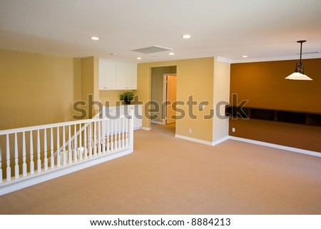 New Model Home Interior Showing Paint Carpet Stock Photo