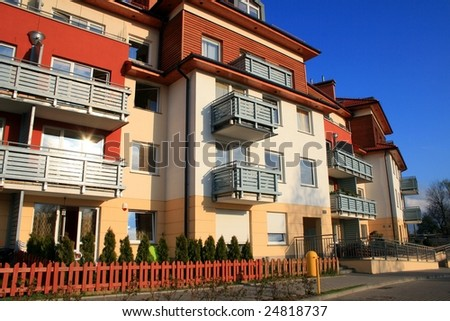 New modern apartments with balconies and gardens