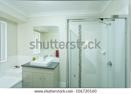 New modern bathroom in australian townhouse