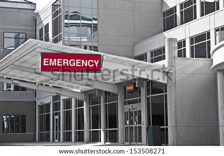 New Modern Hospital Emergency Room Entrance