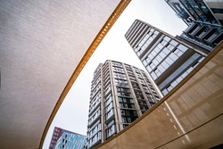New modern residential apartments building and development lookup, London Uk