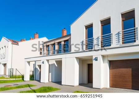 New modern residential development semi-detached house  #659251945