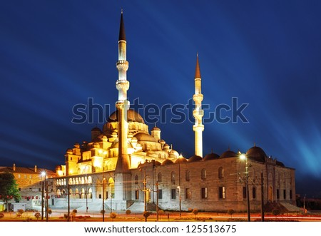 New Mosque at night, Istanbul - Yeni camii