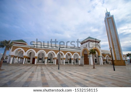 New mosque in the port of tangier, Morocco. Religion, Morocco. Religion #1532158115