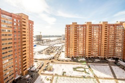 New multi-storey apartment buildings in the Russian city. Moscow