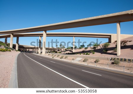 New,Multiple Lane Highway - stock photo