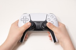 New Next Gen game controller on Kids Hand.
