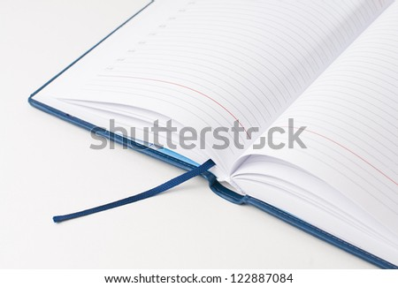 new open business notebook, diary hardcover isolated on white background.