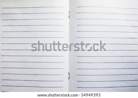 New open notebook or copybook with empty sheets