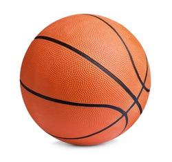 New orange basketball ball isolated on white