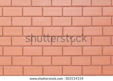 new orange colour brick wall