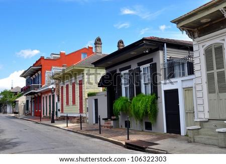 New Orleans French Quarter Street Scene