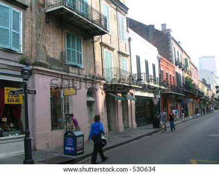New Orleans French Quarters Building