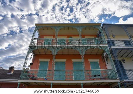 New Orleans is know (among other things) for its architecture with multiple influences exemplified in this picture
