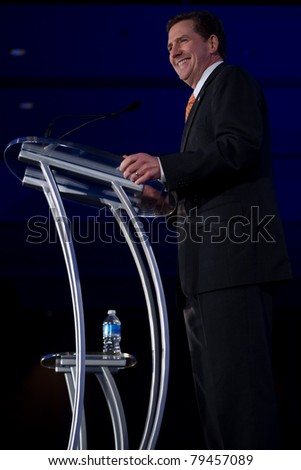 NEW ORLEANS, LA - JUNE 17: Senator Jim DeMint of South Carolina addresses the Republican Leadership Conference on June 17, 2011 at the Hilton Riverside New Orleans in New Orleans, LA.