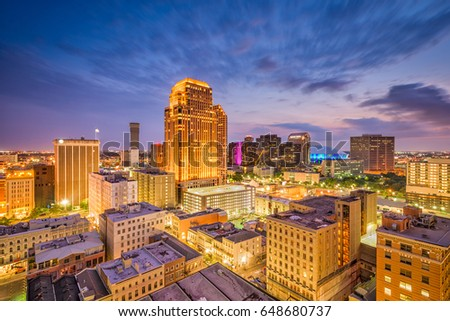 New Orleans, Louisiana, USA Central Business District skyline. #648680737